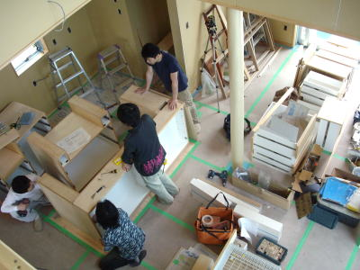 定番の造作キッチン