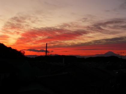 初冬の夕焼け1