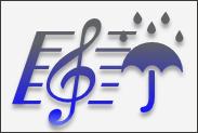 傘の音符(紺)