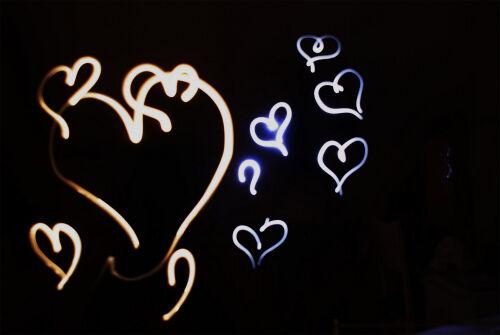 Love Heart Light Painting
