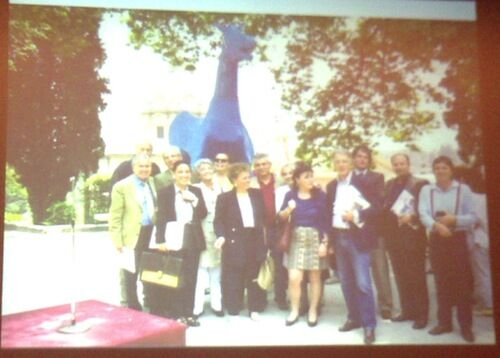 青い馬の写真