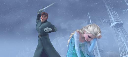 アナと雪の女王の剣を振り下ろすハンス王子