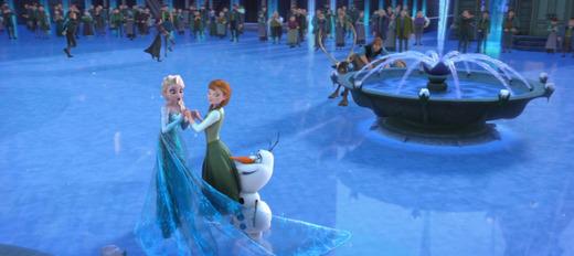 アナと雪の女王のアナとエルサと元通りのアレンデール王国