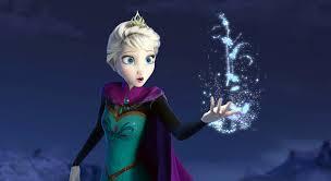 アナと雪の女王の一人の魔法使うエルサ