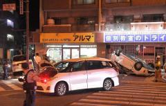 車が猛スピードで逆走し衝突 運転の81歳男性と妻が死亡 福岡