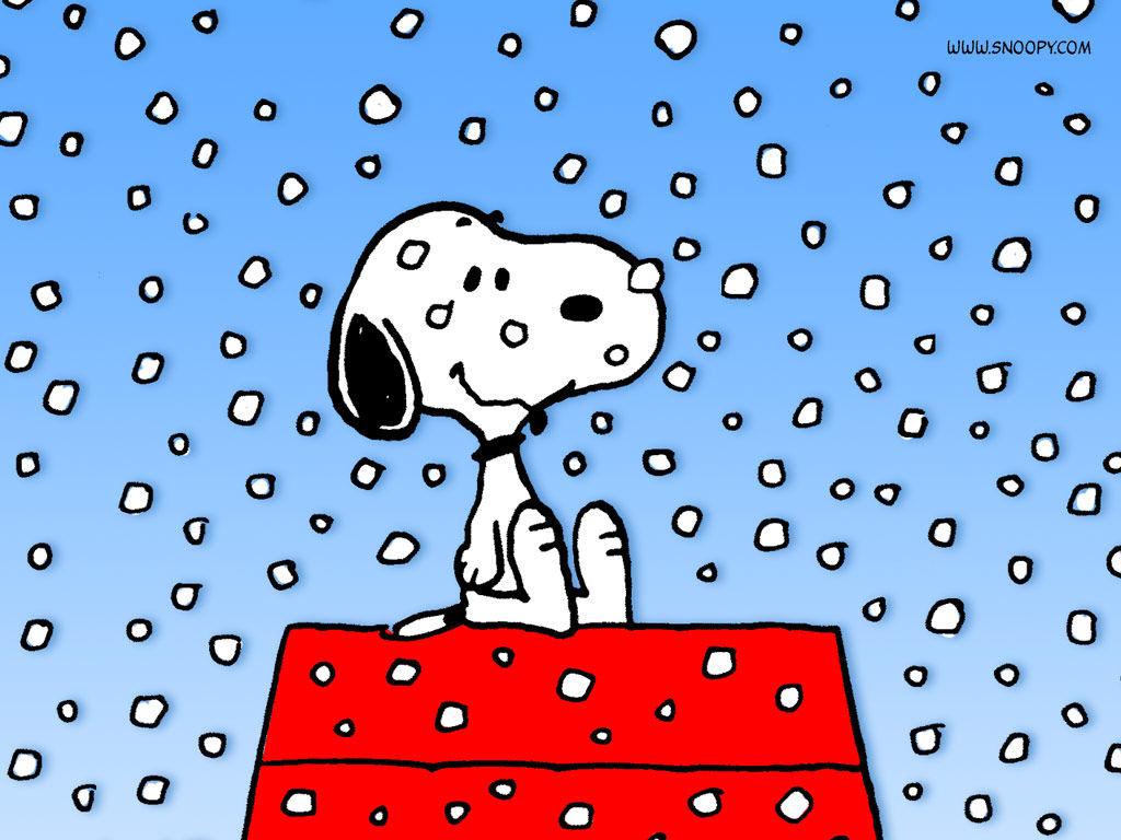 雪とスヌーピー