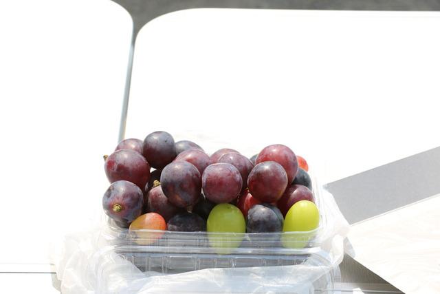 葡萄の差し入れ