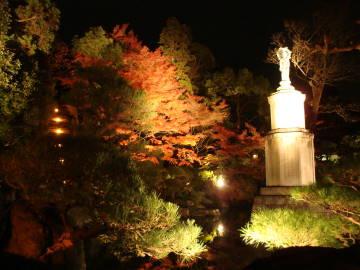 知恩院観音像と紅葉
