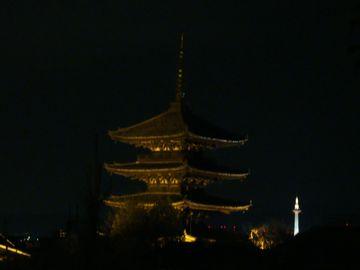 八坂の塔と京都タワー