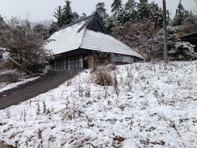 【岡山移住生活 170日目】 初雪、妻が子どもみたいに喜んでいる姿がとっても嬉しかった。