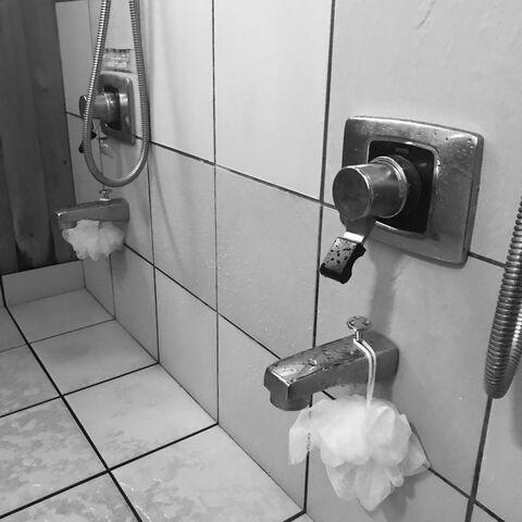 ゲストハウスev吹屋へ、お風呂の修理へ