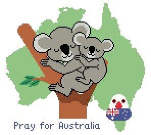 PrayforAustralia完成予想図
