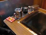 菊水のテーブル
