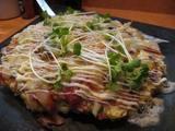 芋蛸のピザ風お好み焼
