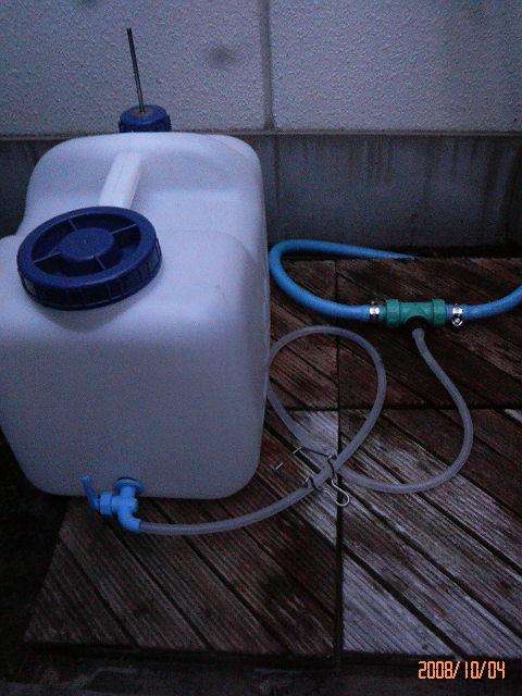 液肥混入器のセット