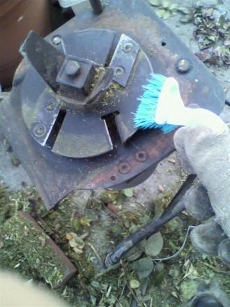 ガーデンシュレッダーの掃除
