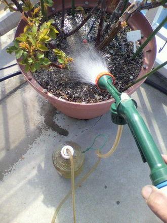 液肥の散布