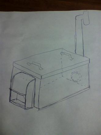 炭焼き窯のスケッチ