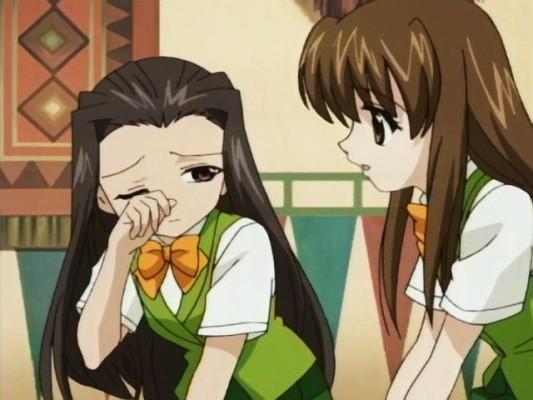happy051124003 前回の黒闇天のことで悩む亜麻乃ちゃん。自分以外に菊乃介を好きな人が
