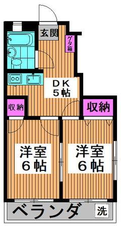 日新マンション 501 間取