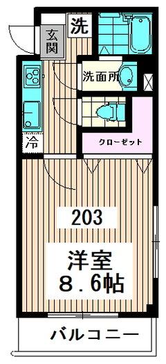 キャスル高円寺南 203号室