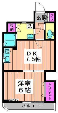 オーレム新高円寺 502 間取り