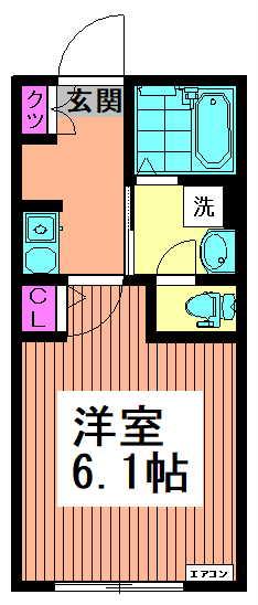 フェリーチェ高円寺B 104 間取り