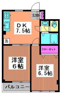 第5泉マンション 203 間取り