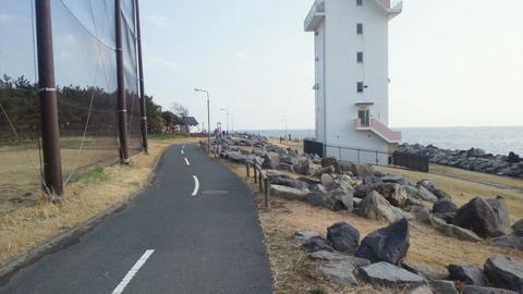 若洲海浜公園サイクリングコース5