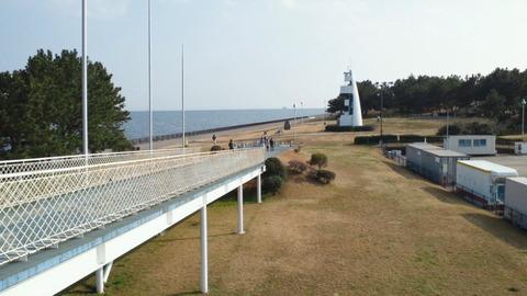 若洲海浜公園サイクリングコース41展望台