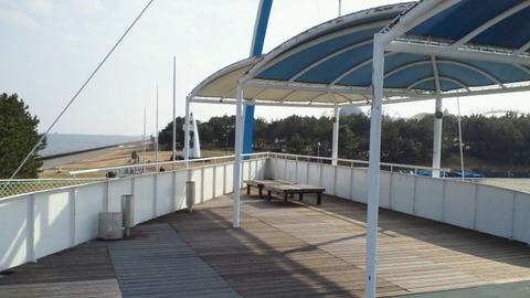若洲海浜公園サイクリングコース37展望台