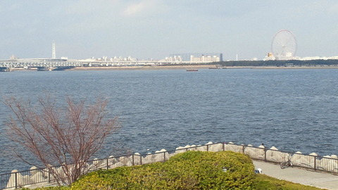 若洲海浜公園サイクリングコース38展望台