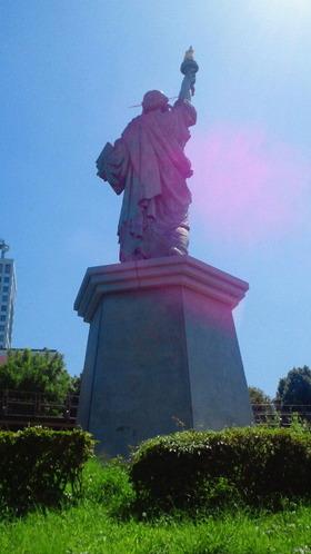 お台場海浜公園24自由の女神像裏側