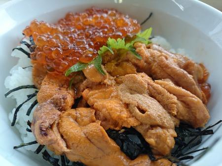 杉津パーキングエリア うにイクラ丼 (1)