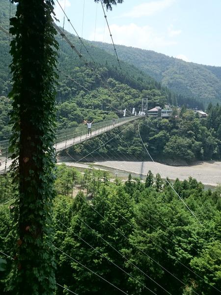谷瀬の吊り橋 十津川村 (8)