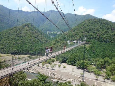 谷瀬の吊り橋 十津川村 (11)