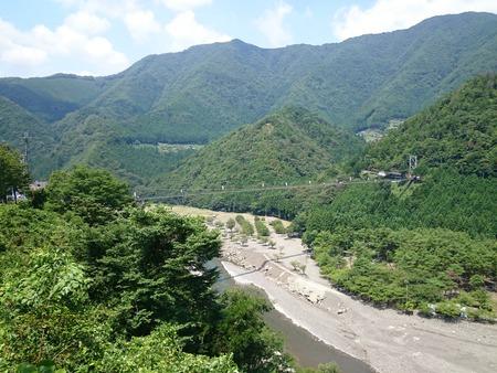 谷瀬の吊り橋 十津川村 (1)