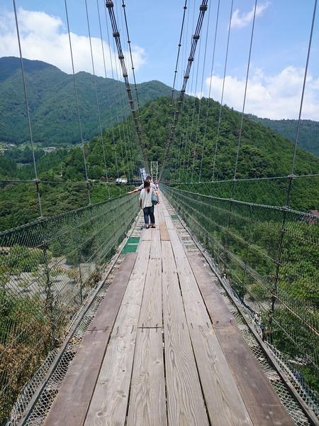 谷瀬の吊り橋 十津川村 (2)