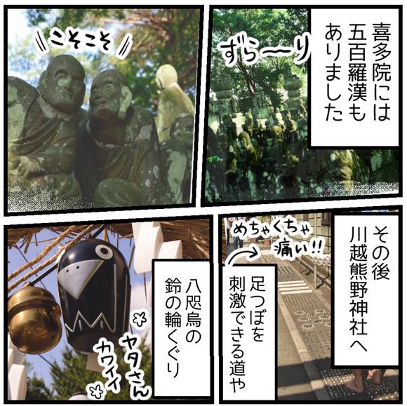 喜多院の五百羅漢、その後川越熊野神社へ。