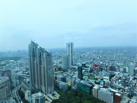 都庁の展望台からの眺め