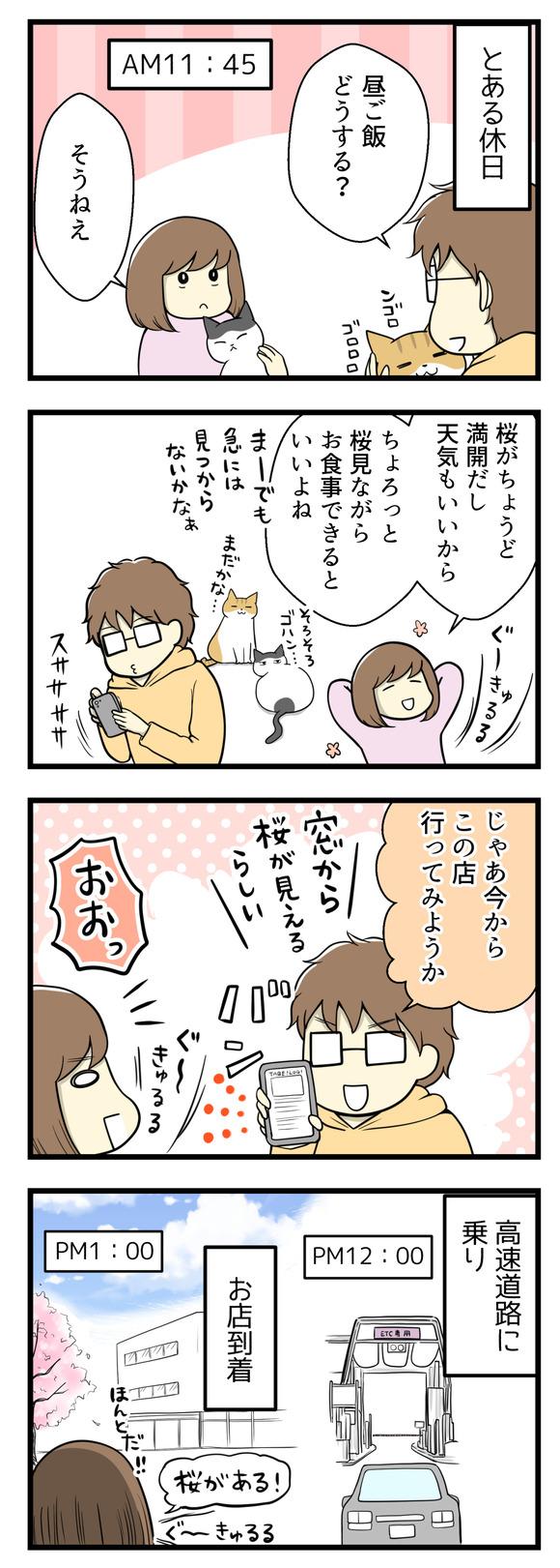 桜を見ながら食事したいと考えた結果-1-