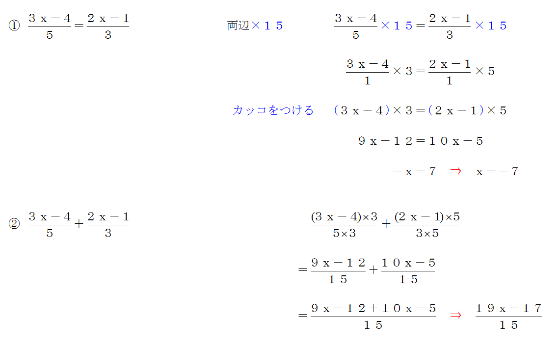 方程式 計算問題