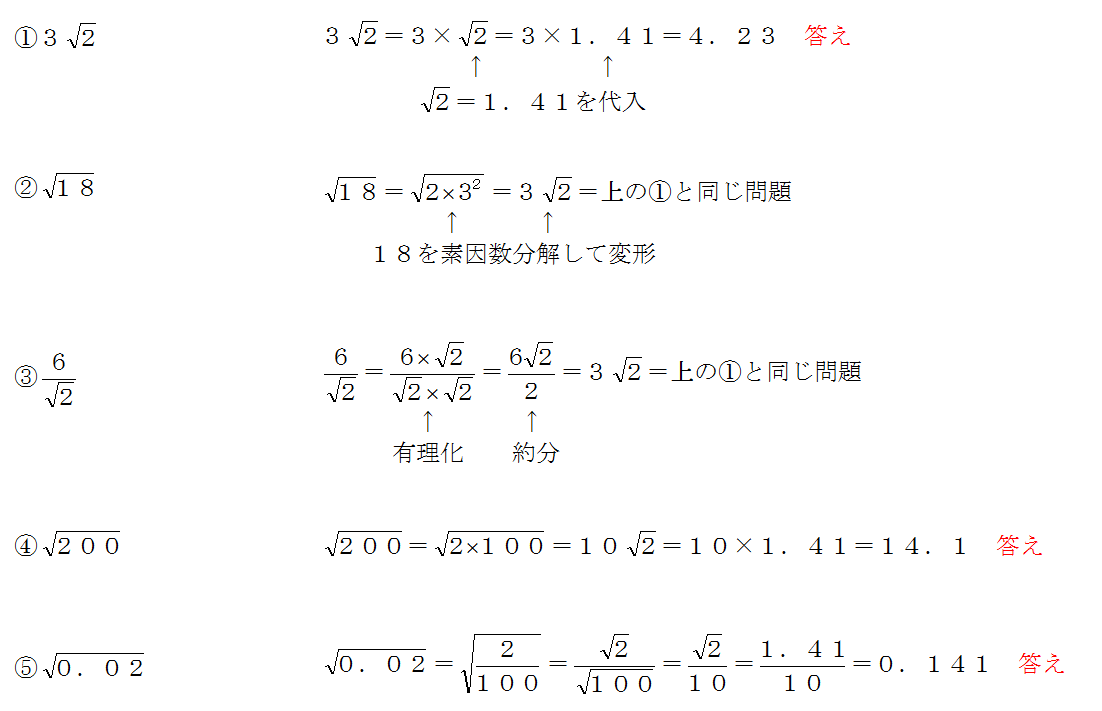 根号を含む式の値
