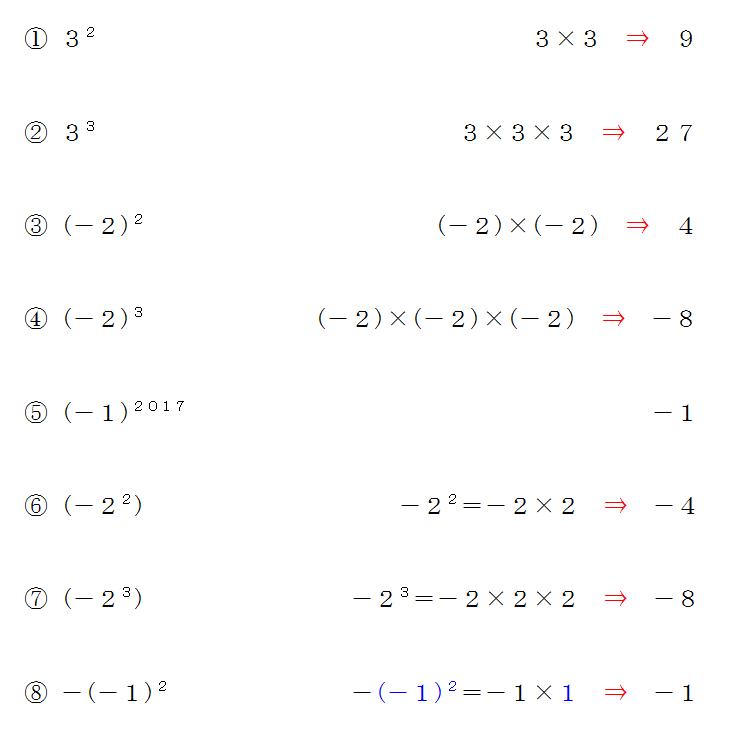 計算 問題 累乗