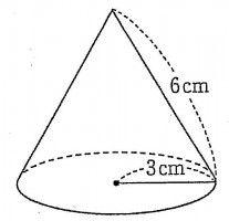 問題:下の左図の円錐の表面積 ... : 展開 数学 : 数学