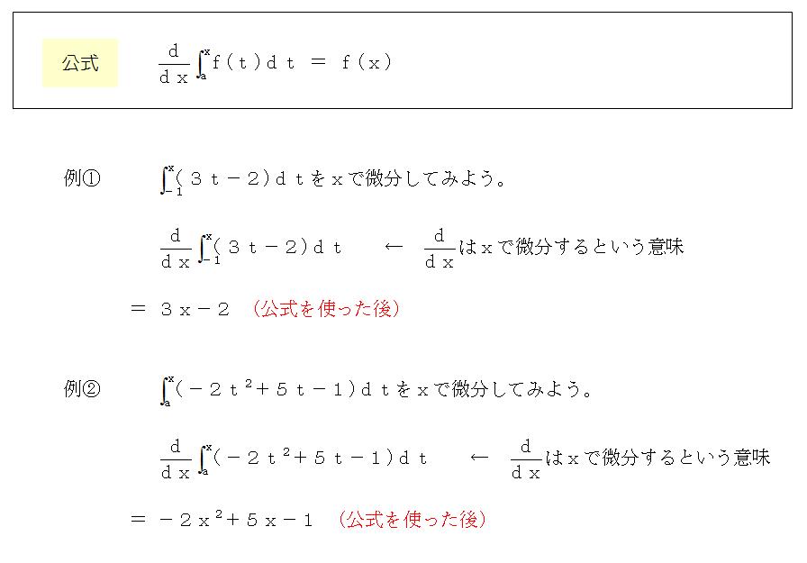 積分と微分公式
