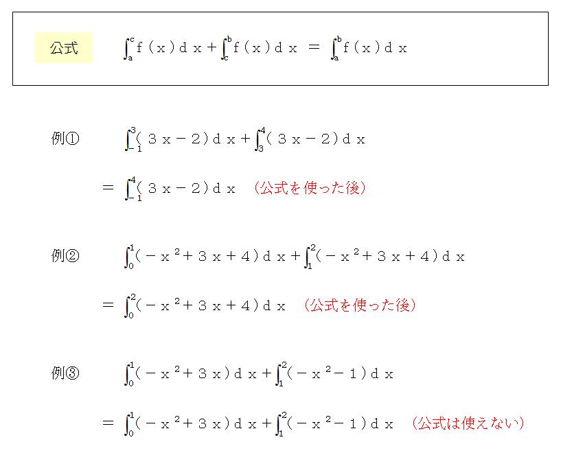 積分と公式