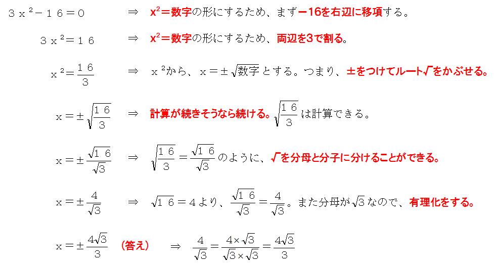 二次方程式、解き方