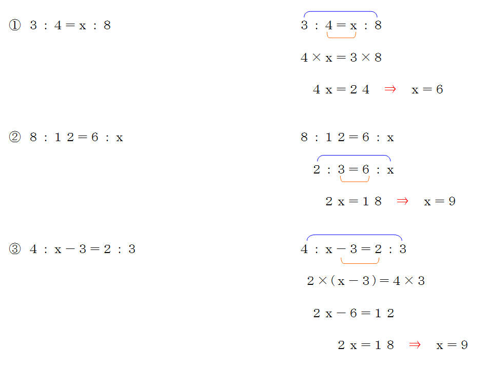 比例式の計算問題