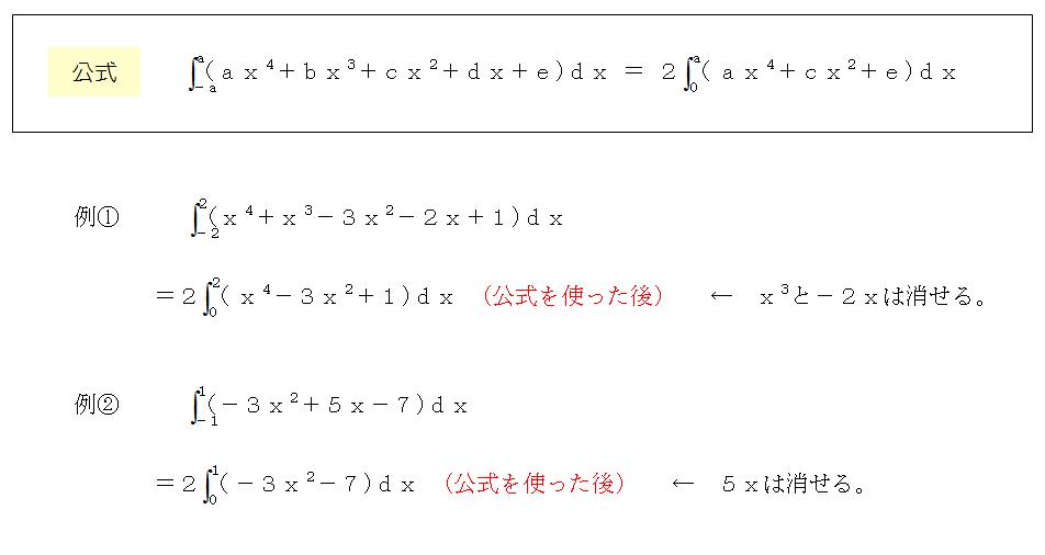 定積分、公式